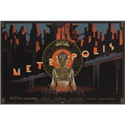 Metropolis silkscreen Mondo poster by Laurent Durieux.