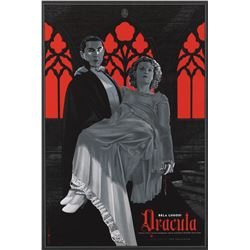 Dracula and The Wolf Man (2) 1-sheet silkscreen Mondo posters by Laurent Durieux.