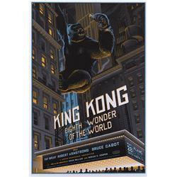 King Kong silkscreen Mondo poster by Laurent Durieux.