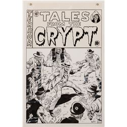 """Tales from the Crypt original artwork by Mike """"Mac Voz"""" Vosburg and screen used prints."""