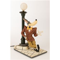 """Jim Carrey """"Stanley Ipkiss"""" screen used Tex Avery wolf lamp from The Mask and Tex Avery drawing."""