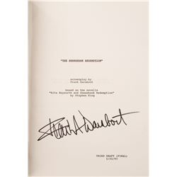 The Shawshank Redemption production script signed by Frank Darabont.