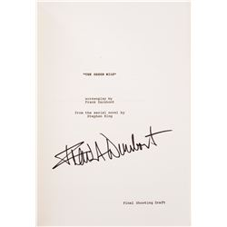The Green Mile production script signed by Frank Darabont.