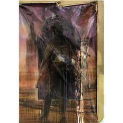 """Thomas Jayne """"David Drayton"""" screen used """"destroyed"""" The Dark Tower prop painting and framed print."""