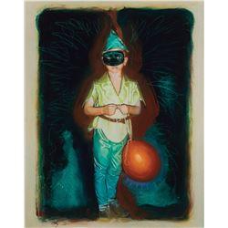 "Thomas Jayne ""David Drayton"" (3) screen-used prop paintings by Drew Struzan from The Mist."
