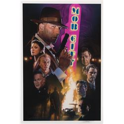 Mob City screen used showgirl headdress, Frank Darabont signed presskit & Drew Struzan signed print.