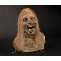 """The Walking Dead """"Bicycle Girl"""" zombie bust by Greg Nicotero."""