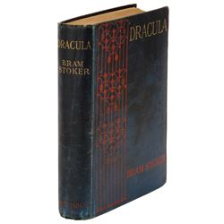 Bram Stoker excessively rare signed First Edition, Eighth Printing of Dracula.