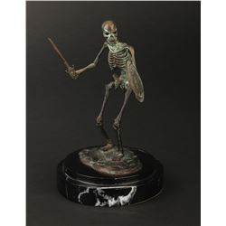 Ray Harryhausen signed limited edition bronze skeleton maquette from Jason and the Argonauts.