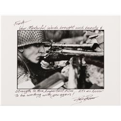 """Barry Pepper """"Pvt. Jackson"""" photograph from Saving Private Ryan inscribed and signed to Frank."""