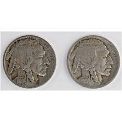 1918-D AND 1915-D BUFFALO NICKELS
