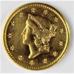 1854-S GOLD DOLLAR