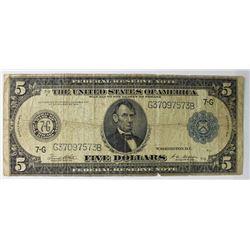 1914 $5 FRN NOTE