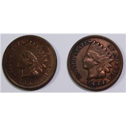 1883 AND 1889 INDIAN CENTS