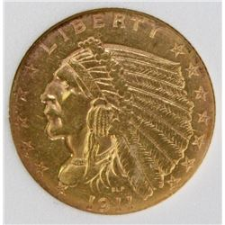 """1911-D """"STRONG D"""" $2.50 GOLD"""