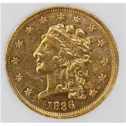 1836 $2.50 GOLD