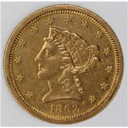 1862 $2.50 GOLD