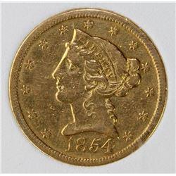 1854-0 - $5 GOLD