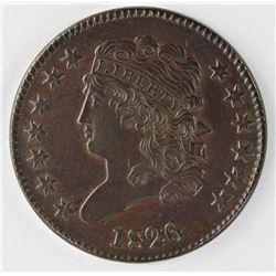 1826 HALF CENT