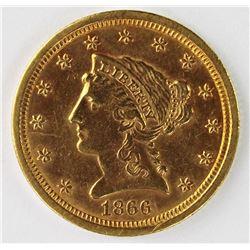 1866-S $2.50 LIBERTY GOLD