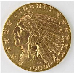 1909 $5.00 GOLD INDIAN