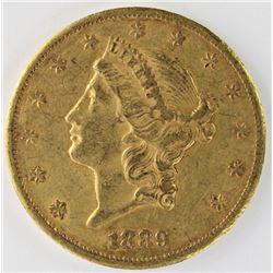 1889-CC $20 GOLD LIBERTY