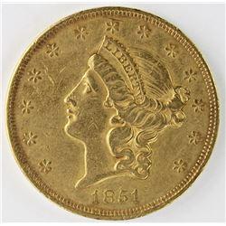 1851 $20 GOLD LIBERTY