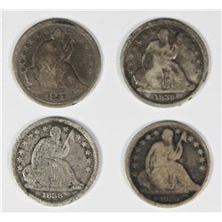 SEATED DIME LOT - CIRCULATED