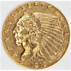 1912 $2.50 GOLD