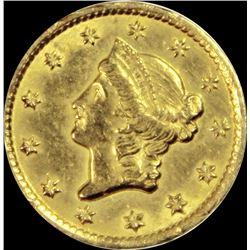 1851-C $1.00 GOLD
