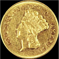 1870 $3.00 GOLD