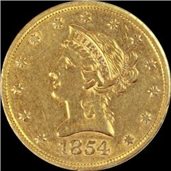 1854-S $10 GOLD