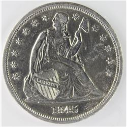 1845 SEATED DOLLAR