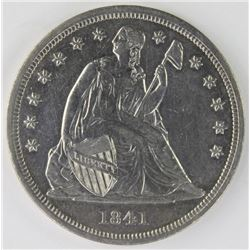 1841 SEATED DOLLAR