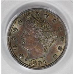 1894 LIBERTY NICKEL PCGS AU 58.