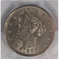 1895 LIBERTY NICKEL PCGS AU 58