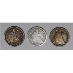 SEATED DIMES: (2) 1840 AND 1840-O