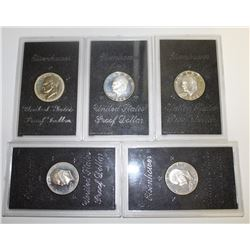 LOT OF PROOF SILVER IKE DOLLARS: