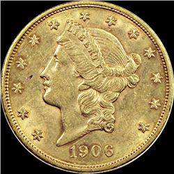 1906 $20 GOLD LIBERTY