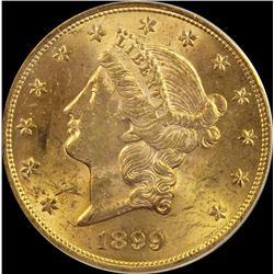 1899 $20 GOLD LIBERTY