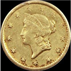 1851-O $1.00 GOLD