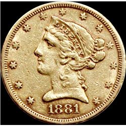 1881-S $5.00 GOLD