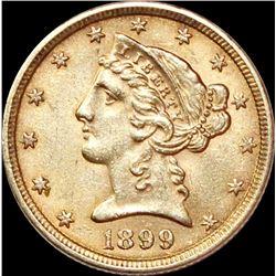 1899 $5.00 GOLD