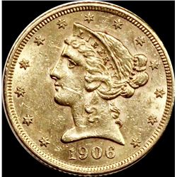 1906-S $5.00 GOLD