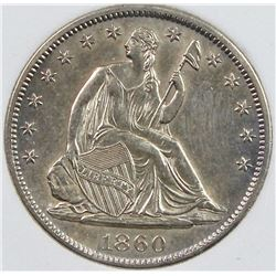 1860-S SEATED HALF DOLLAR