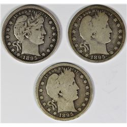 GROUP OF THREE BARBER QUARTERS
