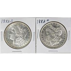 1882 & 1882-S MORGAN SILVER DOLLARS