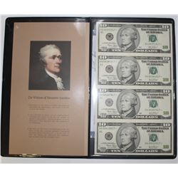 WORLD RESERVE UNCUT SHEET OF (4) $10.00