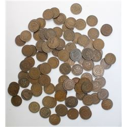 100 NICE INDIAN CENTS 1909 AND OLDER