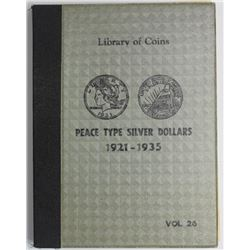 SET OF PEACE SILVER DOLLARS IN ALBUM